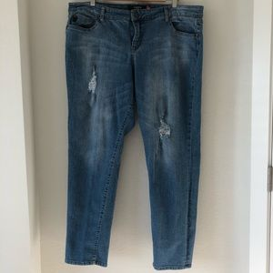 Torrid Denim ripped and distressed jeans size 22